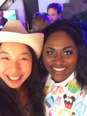 Nicole Fu and Danielle Brooks at the Samsung Blogger Lounge, SXSW 2015