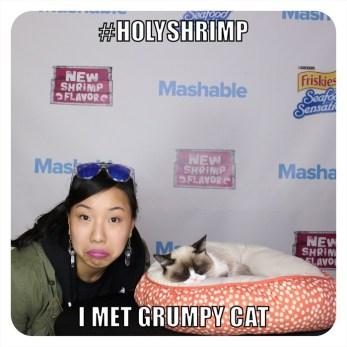 Nicole Fu and Grumpy Cat at the Mashable House, SXSW 2014
