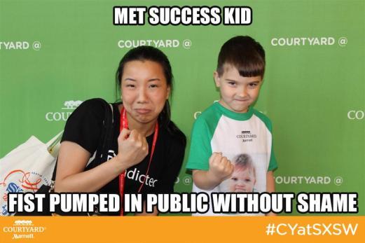 Nicole Fu and Success Kid at SXSW 2014