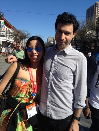 Nicole Fu and Alex Karpovsky at SXSW 2014