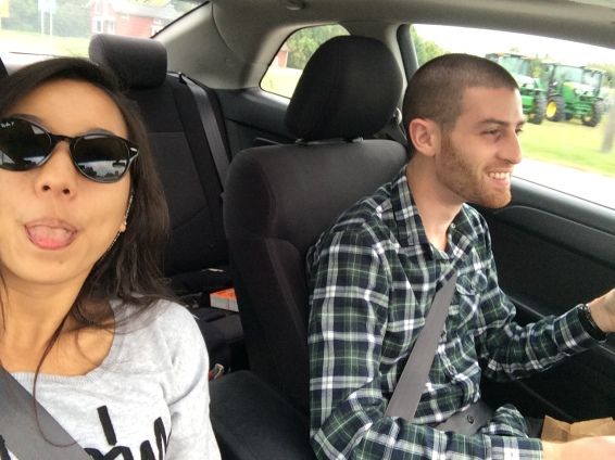 Nicole Fu & Paul Nakhleh driving to Boston