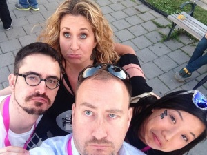Alistair Croll, Rebecca Croll and Nicole Fu at Startupfest 2014