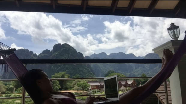 Nicole Fu Digital Nomad in Vang Vieng, Laos