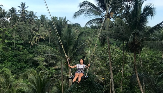 Nicole Fu in Ubud, Indonesia