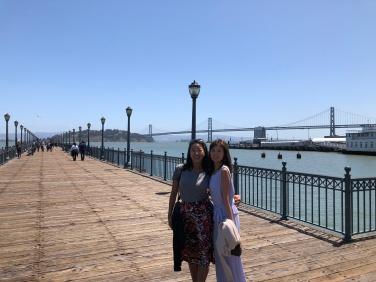 Nicole Fu and Ikumi Yoshida in San Francisco
