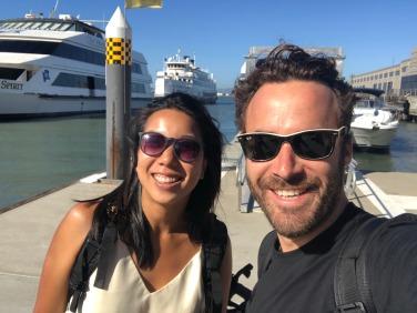 Nicole Fu and Jonathan Stoikovitch in San Francisco