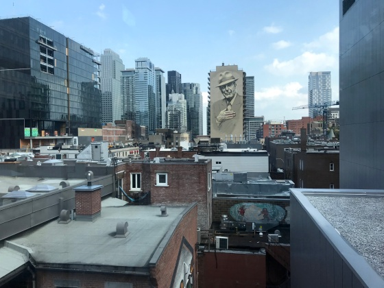 Leonard Cohen Mural in Montreal